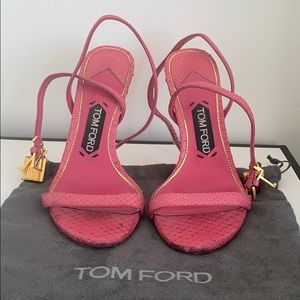 Tom Ford leather python pink sandals